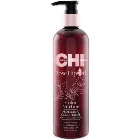 Кондиционер для волос с маслом лепестков роз/ CHI Rose Hip Oil Conditioner, 11,5oz/355мл фл